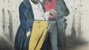 La Reconnaissance du Mont-de-Piété from a seriis on Parisian conmen by Honoré Daumier (really)